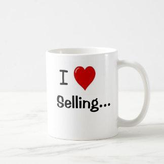Caneca De Café Eu amo vender o slogan e o passo engraçados das