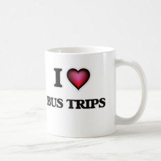 Caneca De Café Eu amo viagens do ônibus