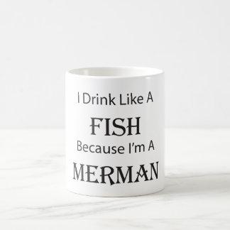 Caneca De Café Eu bebo como um Merman dos peixes