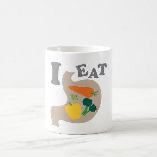 Caneca De Café Eu como vegetais