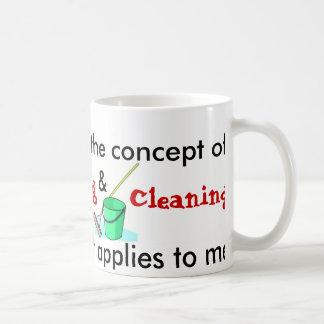 Caneca De Café Eu compreendo o conceito do cozinhar e da limpeza