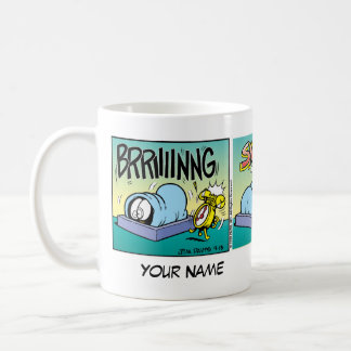 """Caneca De Café """"Eu deio banda desenhada de Garfield das manhãs"""""""