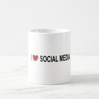 Caneca De Café Eu deio meios sociais