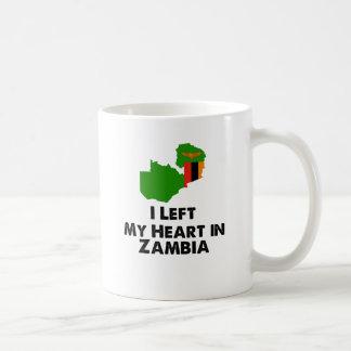 Caneca De Café Eu deixei meu coração na Zâmbia