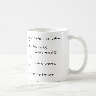 Caneca De Café Eu desenvolvo o software