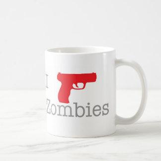 Caneca De Café Eu disparo em zombis