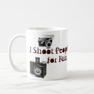 Caneca De Café Eu disparo no ppl para a chalaça da câmera do