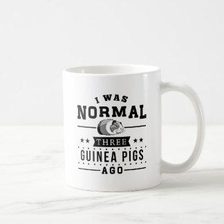 Caneca De Café Eu era três cobaias normais há