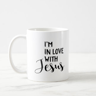 Caneca De Café Eu estou no amor com Jesus