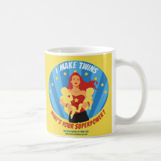Caneca De Café Eu faço gêmeos - que é sua superpotência?