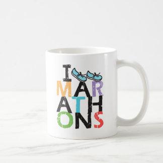 Caneca De Café Eu funciono maratonas