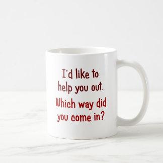 Caneca De Café Eu gostaria de ajudá-lo para fora