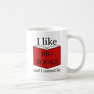 Caneca De Café Eu gosto de livros grandes