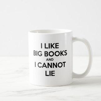 Caneca De Café Eu gosto de livros grandes e eu não posso