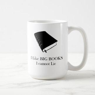 Caneca De Café Eu gosto de livros que grandes eu não posso se