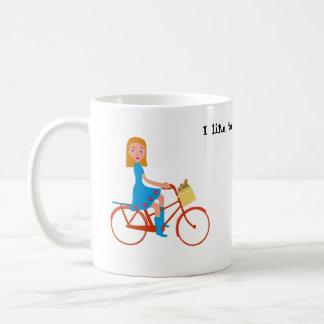 Caneca De Café Eu gosto de montar minha bicicleta