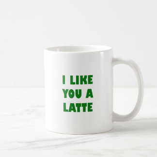 Caneca De Café Eu gosto de você um Latte