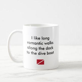 Caneca De Café Eu gosto… do barco romântico longo do mergulho