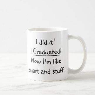 Caneca De Café Eu graduei citações engraçadas do dia de graduação