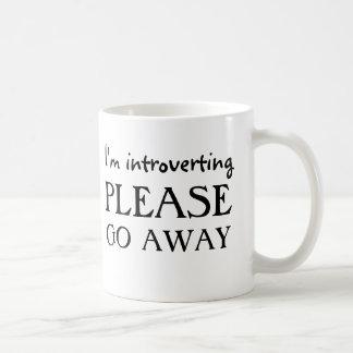Caneca De Café Eu introverting, parto por favor