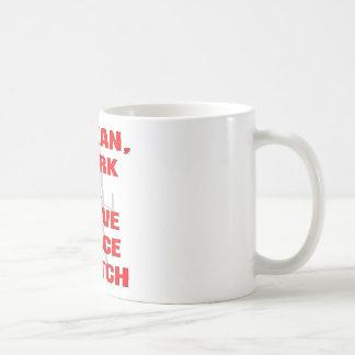 Caneca De Café Eu limpo o empurrão de I & eu tenho um ato de