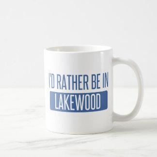 Caneca De Café Eu preferencialmente estaria em Lakewood WA