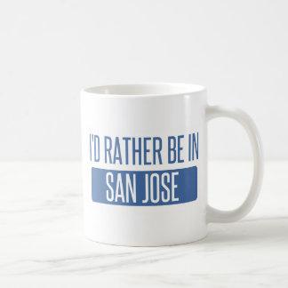 Caneca De Café Eu preferencialmente estaria em San Jose