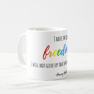 Caneca De Café Eu provei a liberdade, citações de Harvey Milk