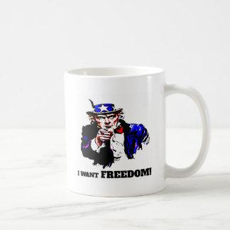 Caneca De Café Eu quero a liberdade!