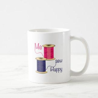 Caneca De Café Eu Sew feliz
