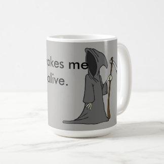 Caneca De Café Eu sinto tão vivo