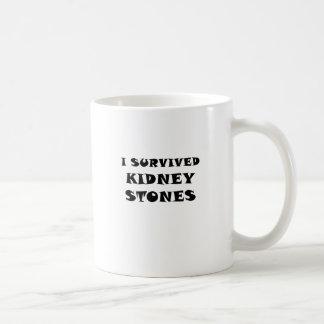 Caneca De Café Eu sobrevivi a pedras de rim