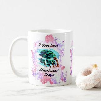 Caneca De Café Eu sobrevivi ao furacão Irma