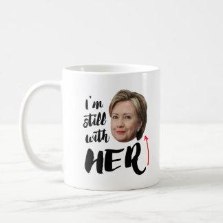 Caneca De Café Eu sou ainda com ela - eu sou ainda com Hillary --