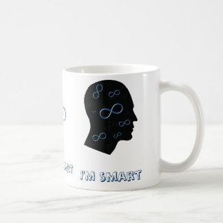 Caneca De Café Eu sou cabeça esperta com símbolos da infinidade -