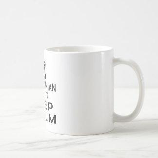 Caneca De Café Eu sou macedónio mim não posso manter a calma