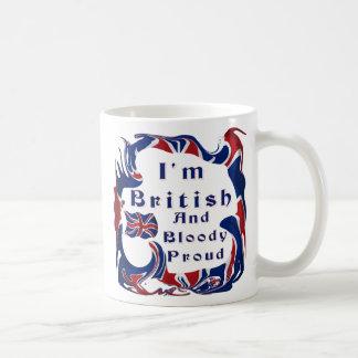 Caneca De Café Eu sou orgulhoso britânico e sangrento