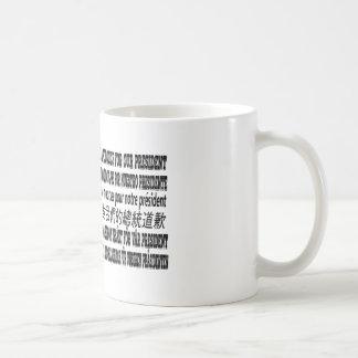 Caneca De Café Eu sou pesaroso sobre nosso presidente T-shirt Eu