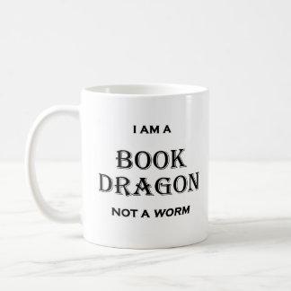 Caneca De Café Eu sou um dragão do livro não um sem-fim