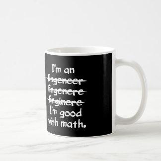 Caneca De Café Eu sou um erro tipográfico engraçado do engenheiro