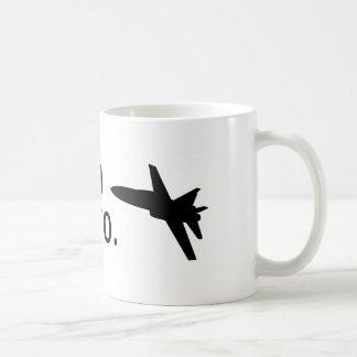Caneca De Café Eu sou um F-18, bro