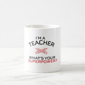 Caneca De Café Eu sou um professor, o que sou sua superpotência?