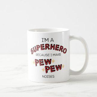 Caneca De Café Eu sou um super-herói porque eu faço ruídos do