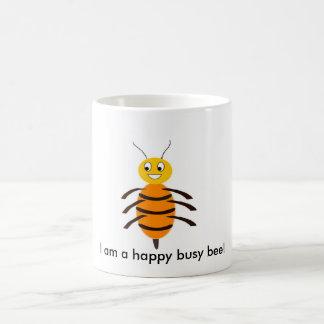 Caneca De Café Eu sou uma abelha ocupada feliz!