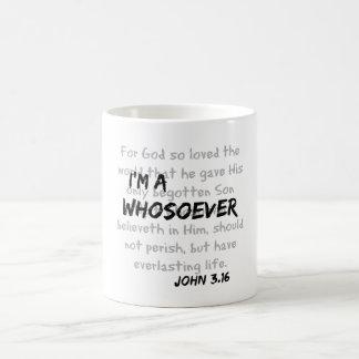 Caneca De Café Eu sou umas citações cristãs do whosoever