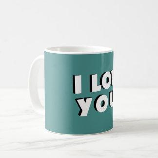 Caneca De Café Eu te amo!