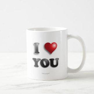 Caneca De Café EU TE AMO!!! Bons sentimentos felizes da mensagem