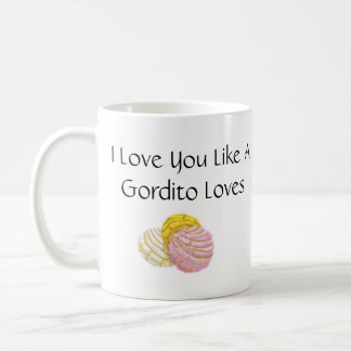 Caneca De Café Eu te amo como um gordito ama conchas