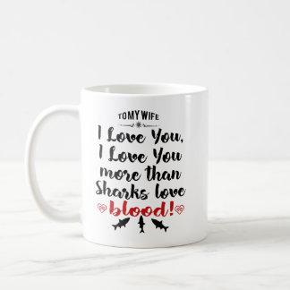 Caneca De Café Eu te amo mais do que o sangue do amor dos