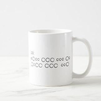 """Caneca De Café """"Eu te amo"""" no código Morse, círculos ásperos"""